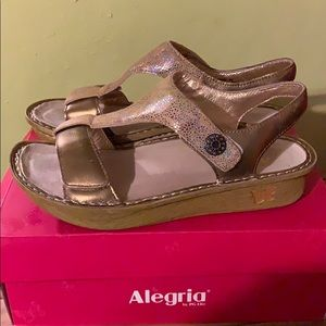 Alegria leather sandals with adjustable straps